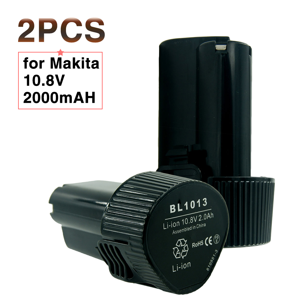 2 pz/lotto 10.8 Volt 12 v 2.0Ah Ricaricabile Agli Ioni di Litio Tools Batteria per Makita 194550-6 194551- 4 BL1013 BL1014 CL100DW LCT203W