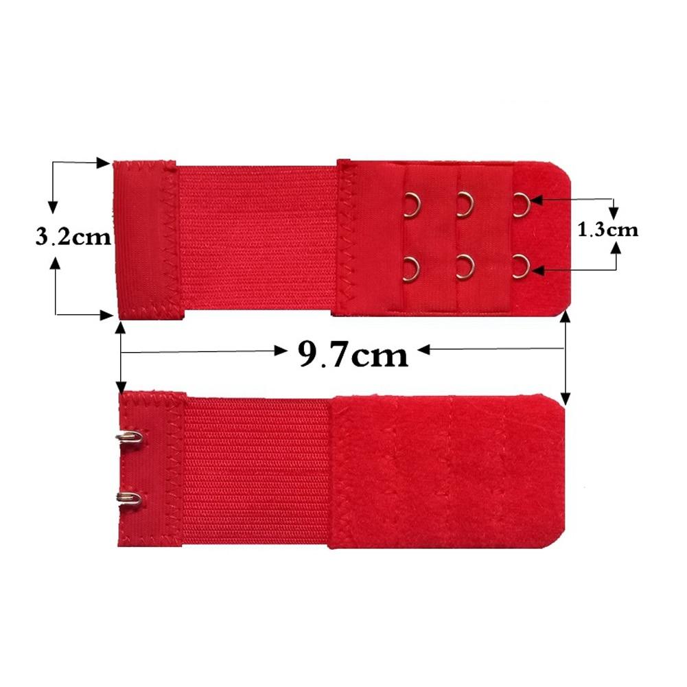 Женский бюстгальтер с 3 рядами, 2 крючка, эластичный, регулируемый, удлиненный, застежка, покрытая пуговицей, нижнее белье, аксессуары для бюстгальтера