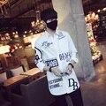 Mens Camisas de Verano 2017 Estilo Coreano Camisas de Los Hombres de Moda Casual Hombres camisa de Manga Larga Slim Fit Impresión de la Letra de Ropa de Trabajo Camisa de Los Hombres