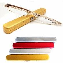 4347392bccc Mayitr Mini Portable Metal Full Frame Reading Glasses Spectacle 4 Color  Slim Reading Glasses Presbyopic Eyeglass