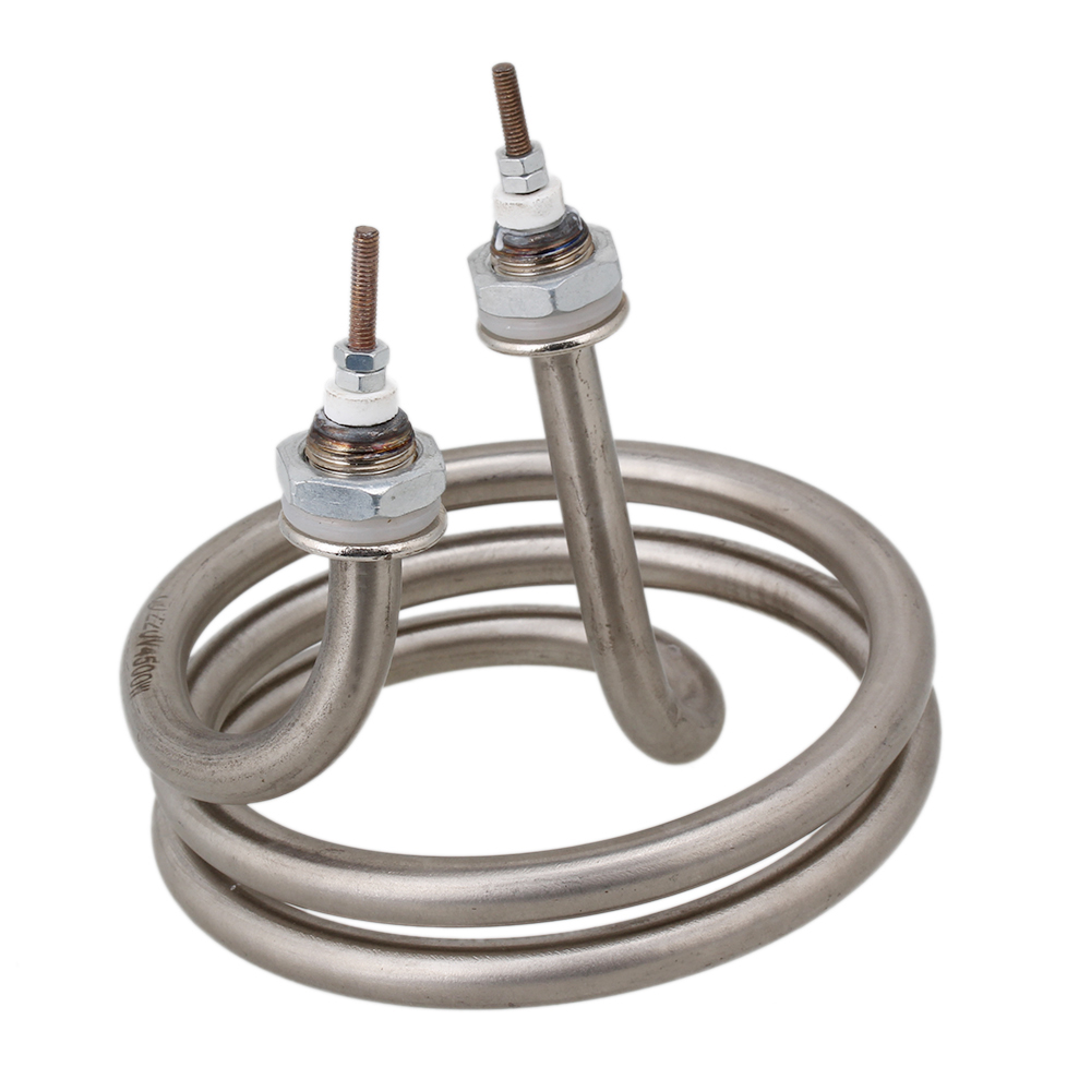 CNBTR Home Silver Tone Electrical Spiral Heating Element Helix Booster For Water Heater AC 220V 4500W ac380v 6kw 6p terminals water boiler heating element 3u tube heater