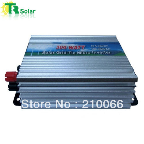 300W Gird Tie Pure Sine Wave Micro Solar Inverter Matched with the 12-18V solar panel for Home Using Free Shipping