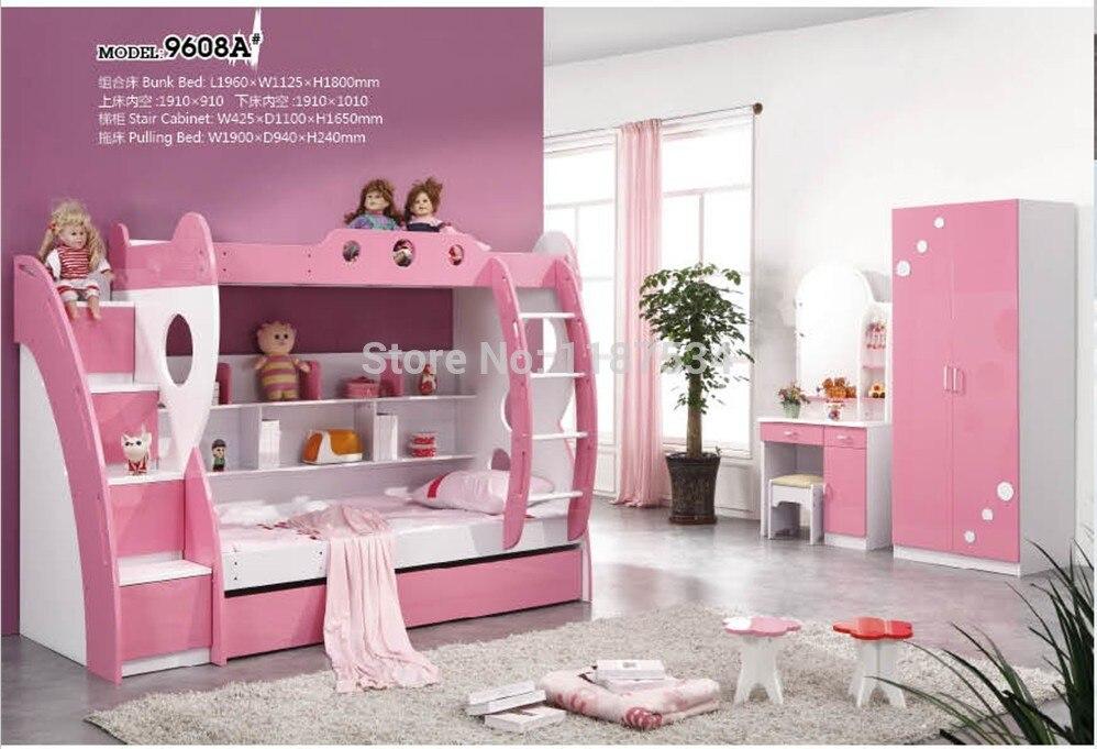 9608B niños modernos muebles de dormitorio casa niños cama litera de ...