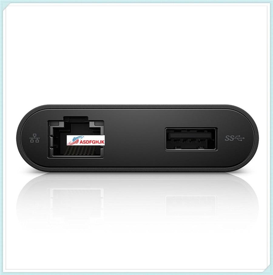 Para Dell USB-C Ethernet USB 3,0 adaptador HDMI DA200 470-ABQN