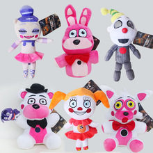 20cm FNAF Plush Toys Five Nights At Freddy's Sister Location Freddy Bear Bonnie Foxy Baby Ballora Clown Plush Stuffed Toys Doll
