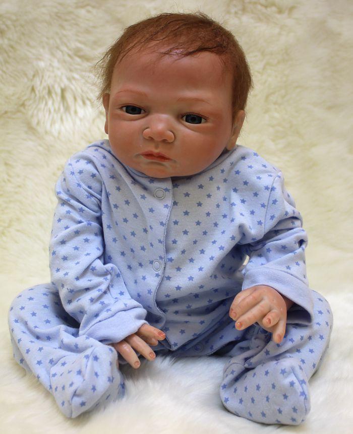 Fast Deliver Boutique 53cm Silicone Reborn Baby Boy Doll Toy Like Real 21inch Soft Body Newborn Babies Doll Bebe Reborn Girls Bonecas Birthda Toys & Hobbies
