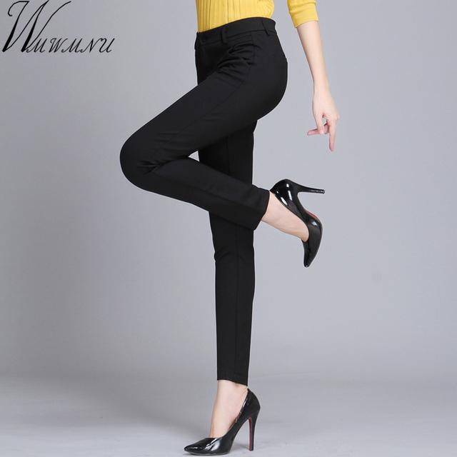Wmwmnu Women Trousers Work Wear casual Spring Black pencil Pants Plus Size 4XL Female Slim Pants Elastic Pantalones Mujer
