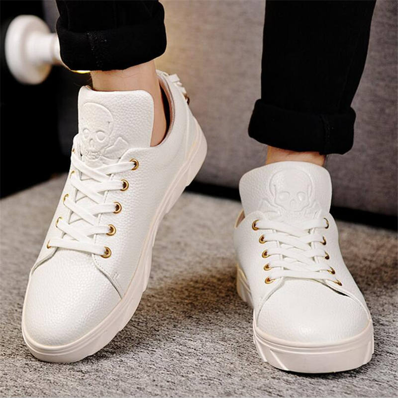 2016 Mens Casual Shoes Spring and autumn Men Shoes Luxury Brand breathable flat pu leather Shoes Mens Trainers Zapatos Hombre 2016 new spring autumn breathable casual shoes for men british style fashion men flat shoes blade mens trainers zapatos hombre