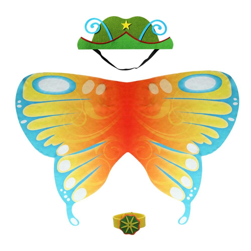 D.Q.Z милые крыла Маска Костюм для Танцы show дети бабочка костюм девушки игрушки бренда платье маскарадные костюмы вечерние маска