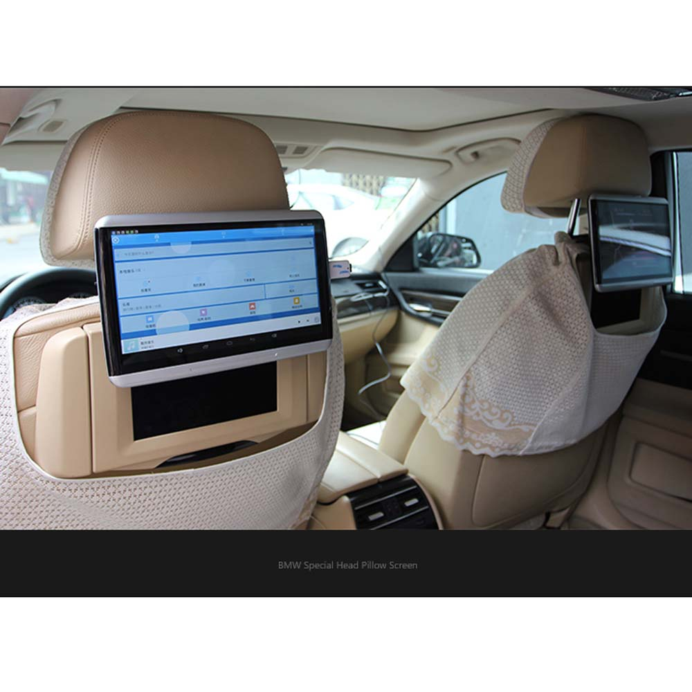 Entertainment 10 6 Inch LCD For BMW Auto Headrest Display Android System Monitor
