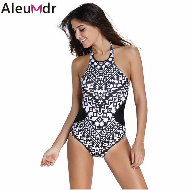 aleumdr swimwear women 2018 monochrome colorful tribal print high ...