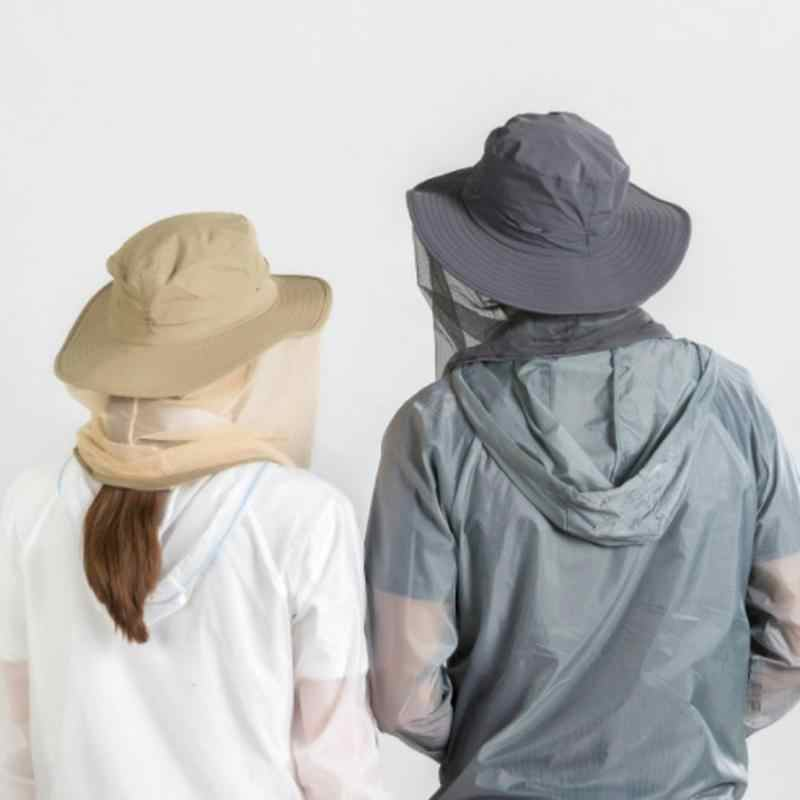 Outdoor Anti-mosquito Mask Hat z siatka na głowę Mesh ochrona twarzy dżungla zbierająca ochronę miodu do uprawiania turystyki pieszej