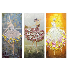 Ballet Dancer pictrure new Handmade abstract Palette Knife Oil Painting canvas Wall Art pictures For Living Room