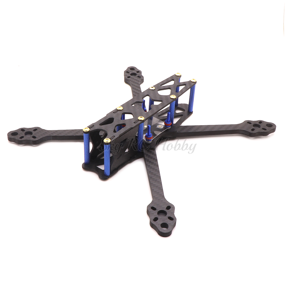 ohnny 2 5inch X5 227mm wheelbase 227 with 5mm Arm Carbon Fiber X type FPV Quadcopter frame (4)