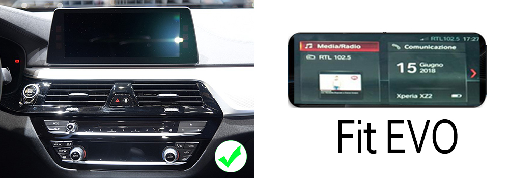 Car Android Touch Screen Multimedia Player Stereo Display navigation GPS For BMW 5 Series G30 2018-2019 Audio Radio Media 7