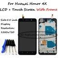 Para huawei honor 4x che2-l12 che2-l23 che2-l11 che1-l04 display lcd com tela de toque digitador assembléia com frame + ferramentas gratuitas