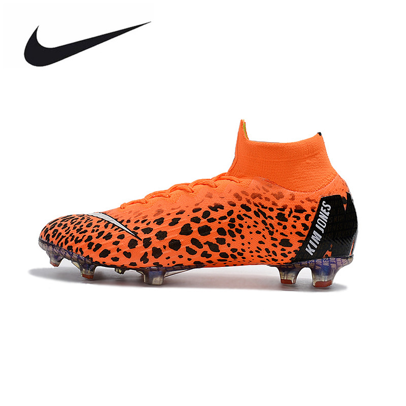 Nike Mercurial Superfly KJ VI 360 Elite FG Soccer Shoes for Men Adults Outdoor Cleats Breathable High-top AH7365-810  39-45 бутсы nike mercurial victory iii fg 509128 800