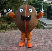 Cute Coffee Bean Mascot Costume New Design Suit For Kindergarten Party Fancy Dress