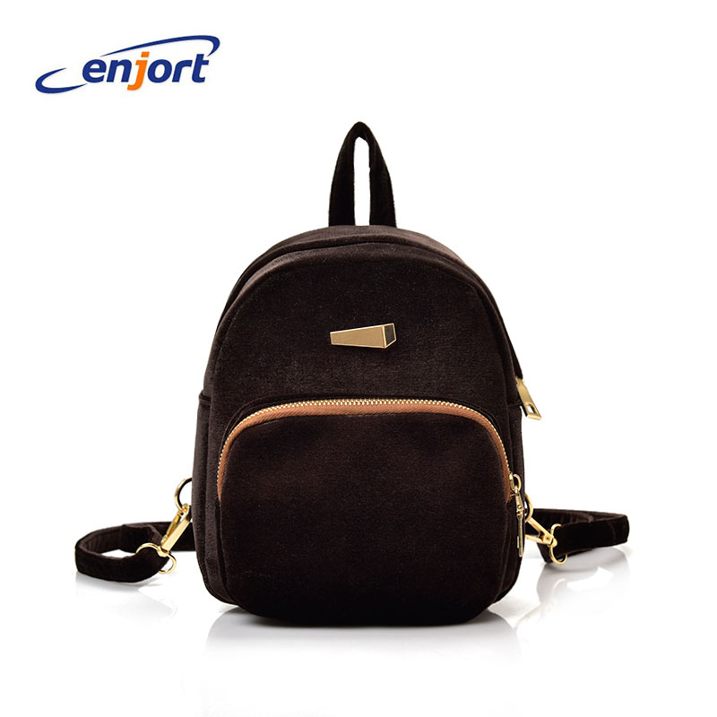 Enjort Women backpack fashion women PU Backpacks ladies girls school bags shoulder bags female bag Mochila