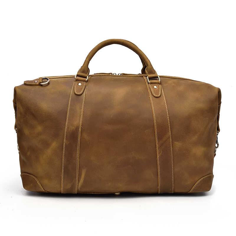 4a00f310f9e4 ... Мужская сумка из натуральной кожи для путешествий 24