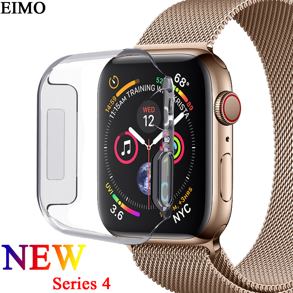 EIMO Frame Protective Case for Apple Watch band 42mm 38mm 44mm 40mm iwatch 4/3/2/1 Colorful plating cover shell Smartwatch Cases crested watch pc frame case protective case for apple watch 42 mm 38 mm series 1 2 colorful plating cover shell for iwatch