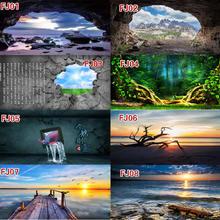 HD красивые пейзажи картина аквариум фон аквариум украшения плакат с клеем на поверхности