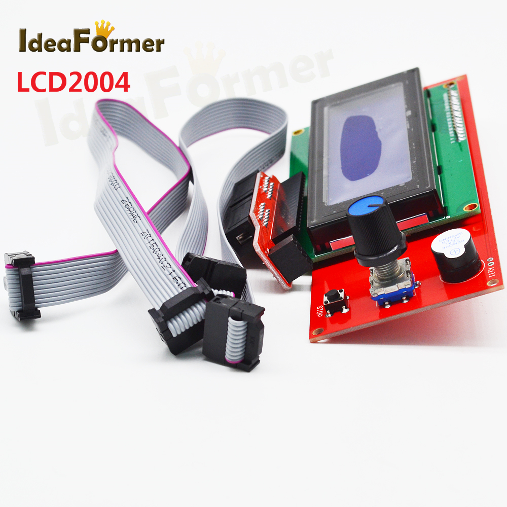 LCD2004 smart controller with adapter for Ramps 1.4 Reprap 3D printer parts