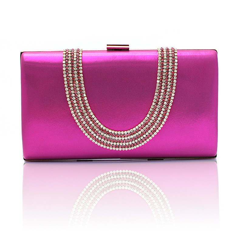 Dinner Clutch new factory sale hand-beaded evening bag banquet bags European and American clutch bag bride diamond purse WY29