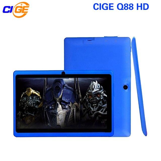 GCEI Q88 7 Pulgadas Tablet PC Quad Core Android 4.4 Tablet 8 GB rom de doble cámara de google app play usb wifi multi-colores w/teclado nuevo caliente