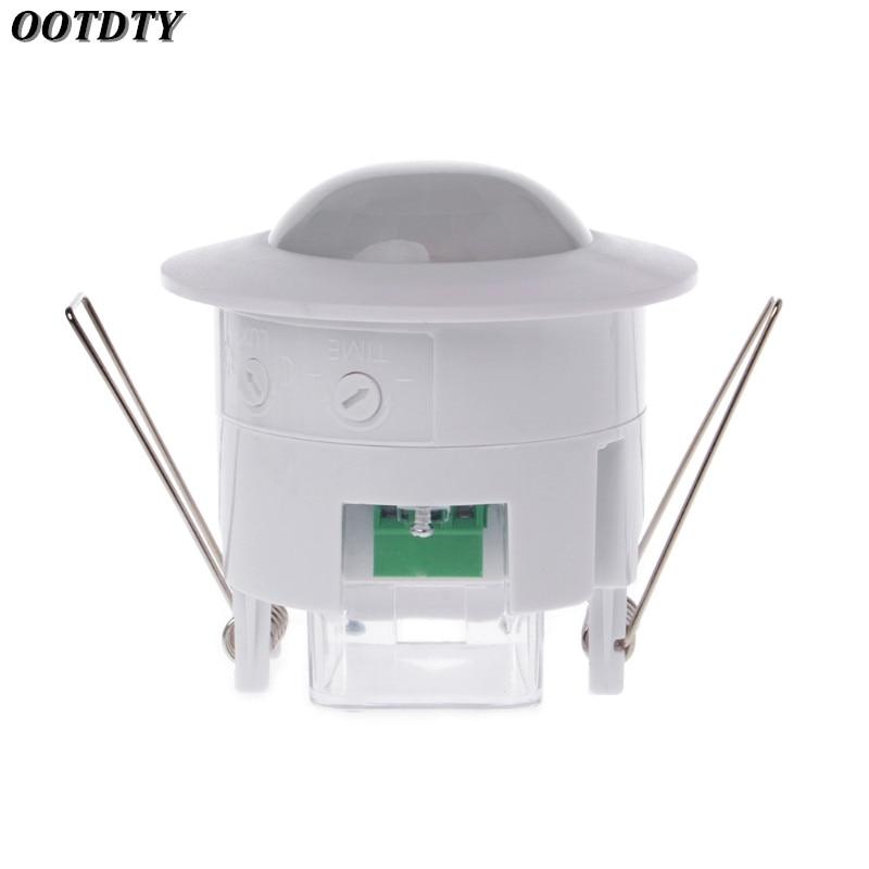 Ootdty 110 240v Ac Mini Adjustable 360 Degree Ceiling Pir
