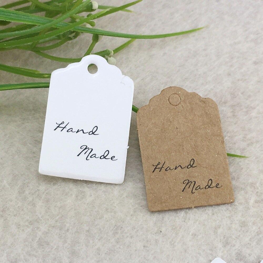 100pcs 3*2cm Flower head Brown Kraft paper Price Tags DIY Gift Tags ...