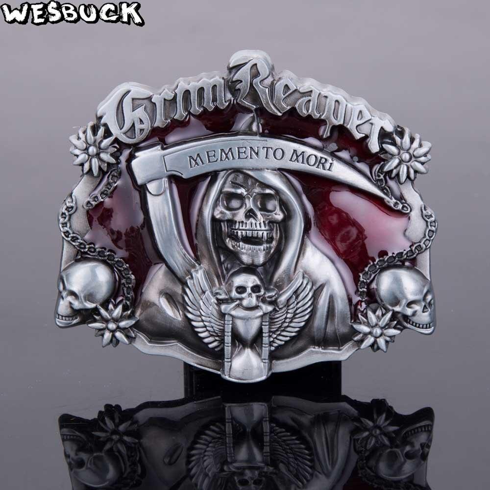 5 unids moq wesbuck marca memen a Mori metal hebillas Vantage para hombre mujeres hebillas occidentales cráneo Marvel hebilla fresco hebilla