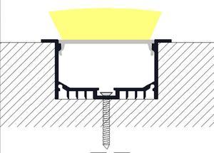 Image 3 - Free shiping LED Aluminium profile for led strip led bar 6063 LED aluminium for ceiling channel profile