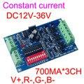 Общий анод 3CH 700mA декодер DMX512 RGB 3 Декодер каналов LED RGB контроллер выход V + R-G-B-12-36 V