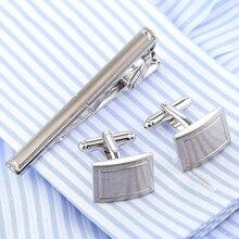 Drop Shipping VAGULA Stylish Cufflinks Tie Clip Set Tie Bar Quality Cuff Links Tie Pin Set cuffs gemelos necktie Men Jewelry