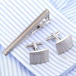 O envio da gota vagula elegante abotoaduras gravata clipe conjunto barra de gravata qualidade manguito links gravata pino definir punhos gemelos gravata masculino jóias
