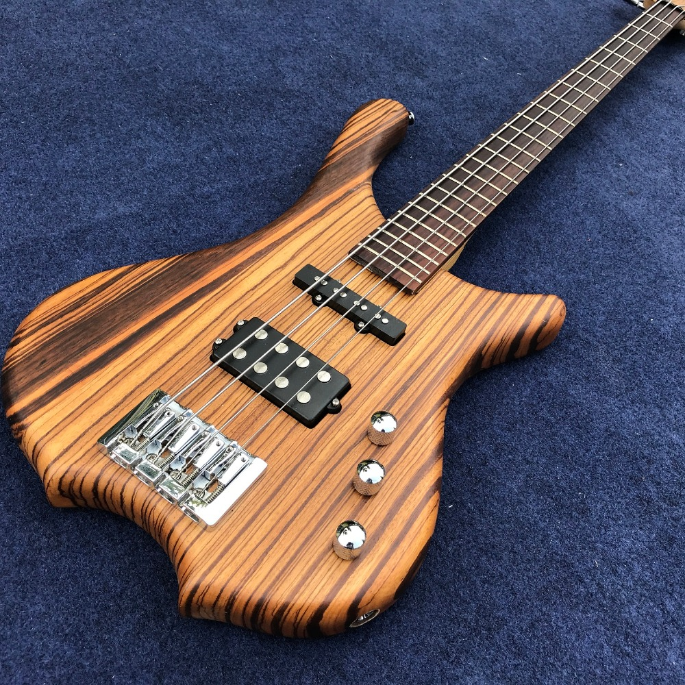 New Arrival, Factory Custom 4 strings Electric Bass guitar, rosewood fingerboard, zebra wood body , chrome Hardware, Real photo human new arrival 7 strings electric guitar matte black clouds striped body and head black hardware free shipping