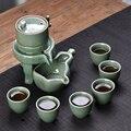ออกแบบใหม่กึ่งอัตโนมัติ Kung Fu ชุดชา, 6 ถ้วยชาและหม้อชา 1 ที่สุดชุดชาสร้างสรรค์ประณีตเซรามิค drinkware