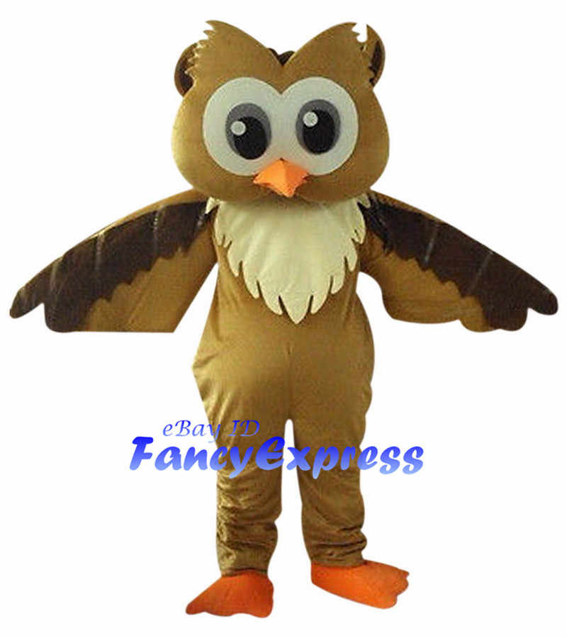 Details about  /Brown Owl Mascot Costume Cosplay Party Fancy Dress Outfit Advertising Adult Suit