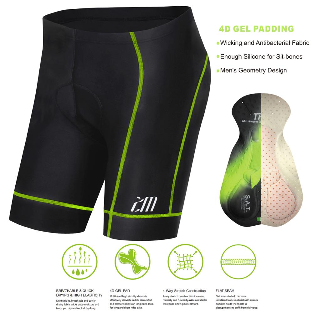 Pro 5D Gel Padded Cycling Shorts Men Downhill Under Bicycle Mountain Bike Sport