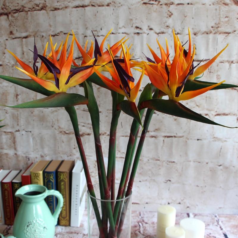achetez en gros artificielle oiseau de paradis fleur en ligne des grossistes artificielle. Black Bedroom Furniture Sets. Home Design Ideas