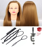 CAMMITEVER Salon Clips+Comb+Bracket+Mannequin Head Hair Styling Training Tool Set Professional Mannequin