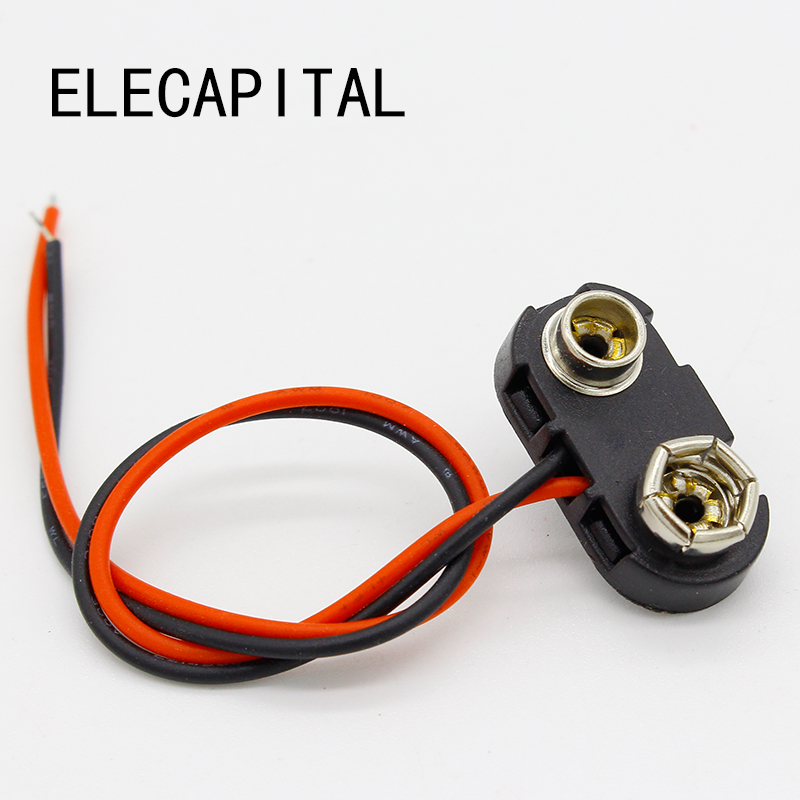 10pcs 9V Battery Snap Connector clip Lead Wires holder 1000 pcs 9v 9 volt snap on battery clip connector 10cm