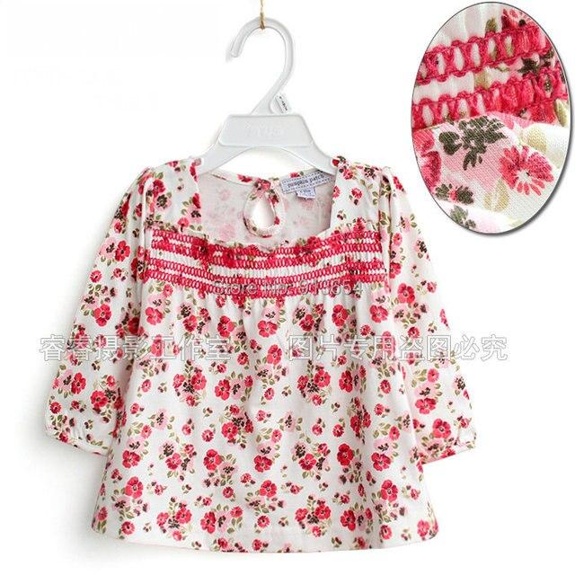 Новый 2014 весна auutmn детей футболки и одежды ребенка 100% хлопок девушки с длинным рукавом печать - пуловер