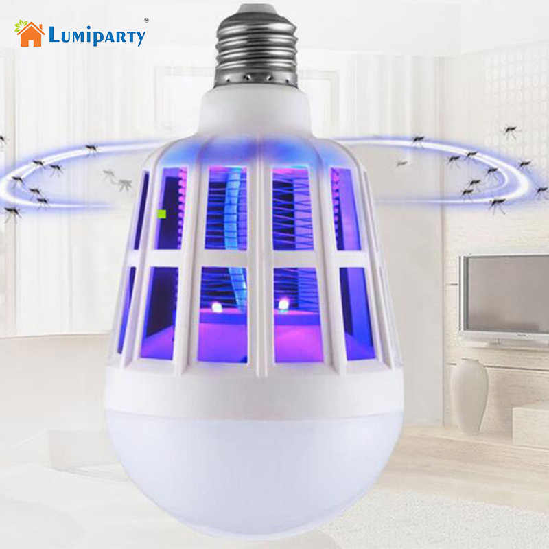 Mosquito Killer Light 2in 1 E27 LED Bulb Anti Fly Electric Mosquito Lamp Home LED Bug Zapper Mosquito Killer Insect Trap Lamps