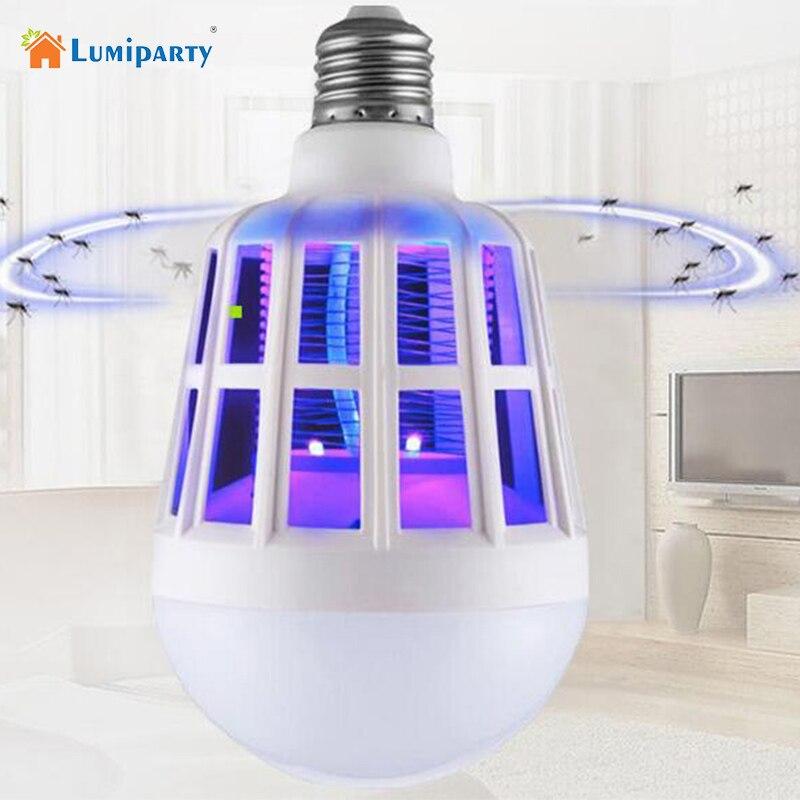 Mosquito asesino luz 2in 1 E27 bombilla LED Anti mosca Mosquito eléctrico lámpara LED Home Bug Zapper Mosquito insecto asesino trampa lámparas