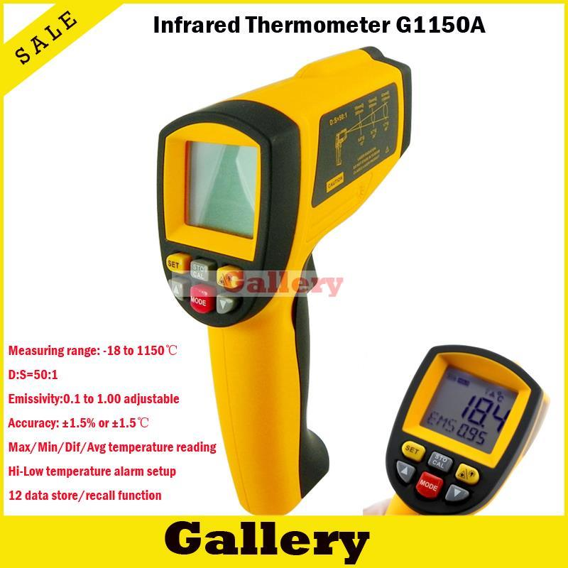 2015 Infrared Ir Thermometer with Industrial Measuring Instrument 1150 Degrees Gm1150a Melting Point Apparatus Temperature Test new industial instrument precision industrial digital thermometer temperature controller for welding machine best