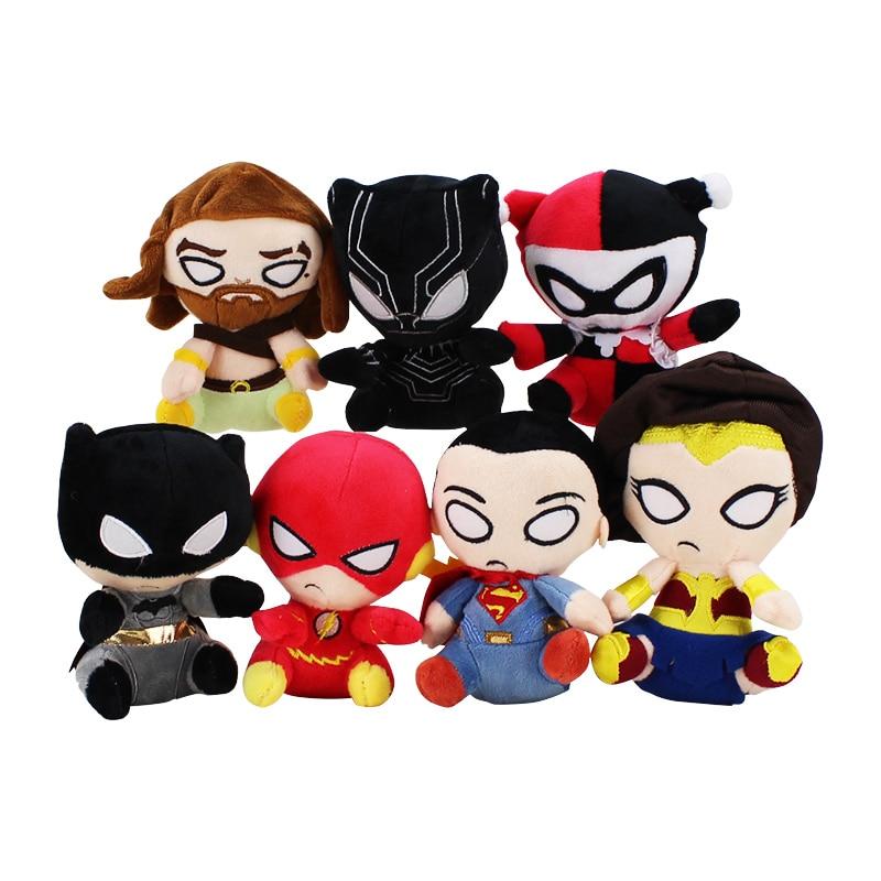 7styles Super Heroes Plush Dolls Toys Superman batman the flash wonder woman Aquaman Lovely toys Kids