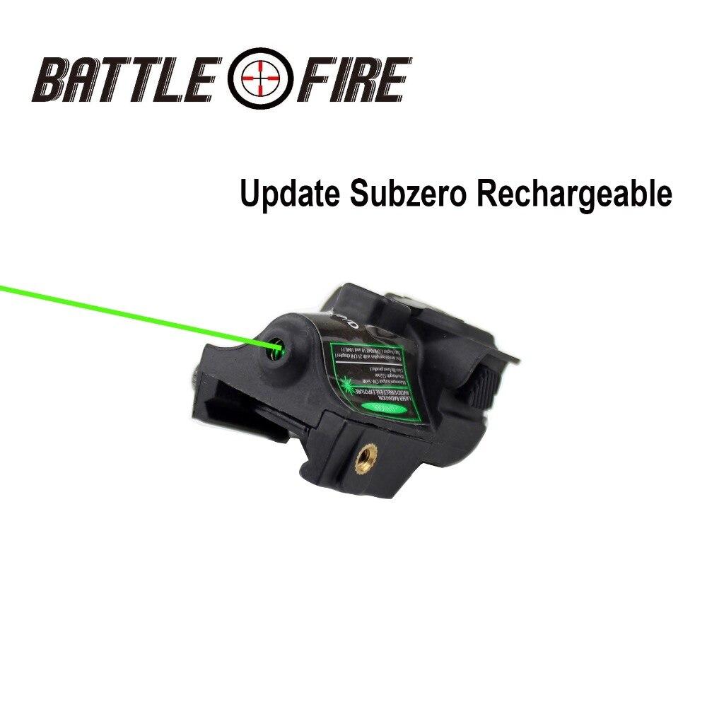 FDA Certifié Tactique Mise À Jour Subezero Micro Rechargeable Vert Viseurs Laser pour Pistolet Pistolet Glock 17