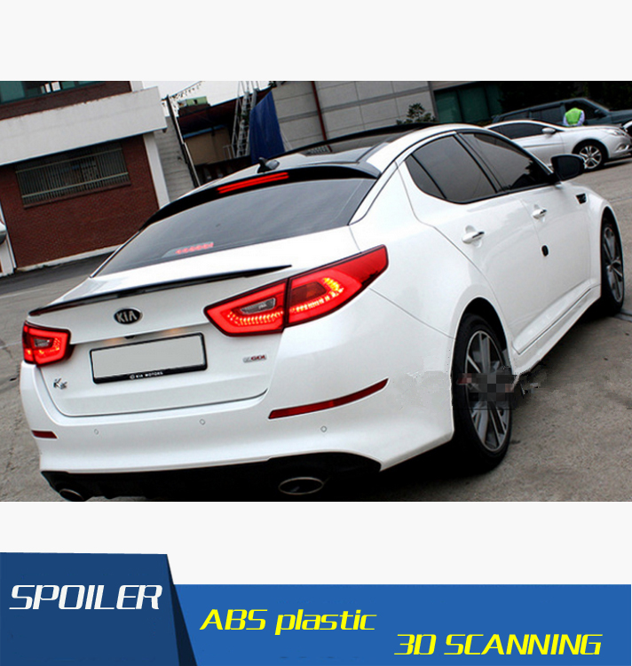 High Quality ABS Material Car Rear Wing Primer Color Rear Spoiler For Kia Optima Spoiler 2014-2015 sticker